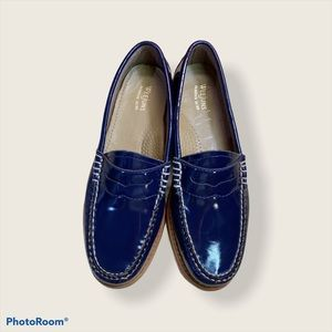 G.H. Bass & Co Weejuns Navy  Leather Penny Loafers
